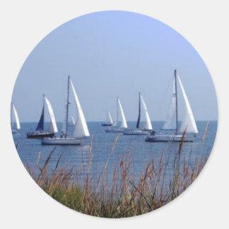 Sails on the Chesapeake Round Sticker