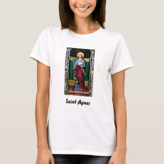 Saint Agnes (Agnes of Rome) - Stained Glass Art T-Shirt