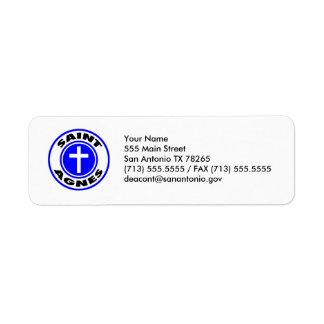 Saint Agnes Return Address Label