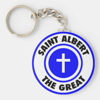 Saint Albert the Great Basic Round Button Keychain