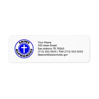 Saint Alphonsus Return Address Label