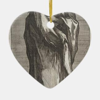 Saint Andrew Ceramic Heart Ornament