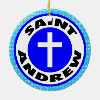 Saint Andrew Ceramic Ornament