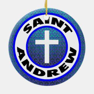 Saint Andrew Ceramic Ornament