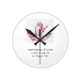 Saint Andrew of Crete Round Clock