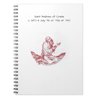 Saint Andrew of Crete Spiral Notebook