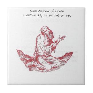 Saint Andrew of Crete Tile