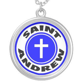 Saint Andrew Silver Plated Necklace