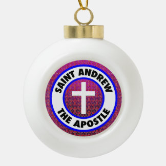 Saint Andrew the Apostle Ceramic Ball Christmas Ornament