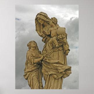 Saint Anna, Charles Bridge, Prague Poster