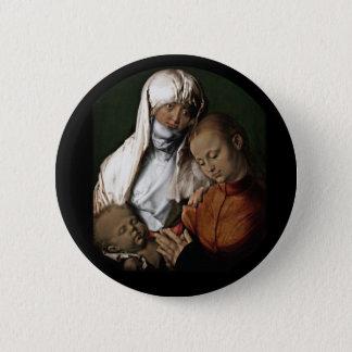 Saint Anne Admiring Baby Jesus 2 Inch Round Button