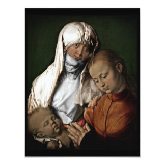 Saint Anne Admiring Baby Jesus Card