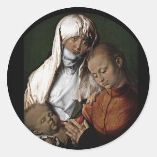 Saint Anne Admiring Baby Jesus Classic Round Sticker