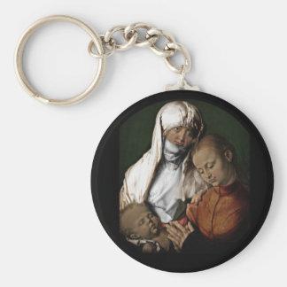Saint Anne Admiring Baby Jesus Keychain