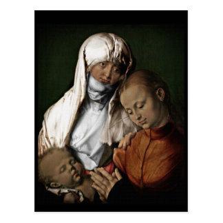 Saint Anne Admiring Baby Jesus Postcard