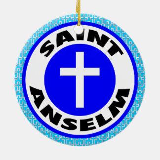 Saint Anselm Ceramic Ornament