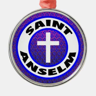 Saint Anselm Metal Ornament