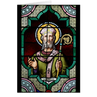 Saint Anselm of Canterbury Stained Glass Art Card