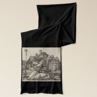 Saint Anthony Engraving by Albrecht Durer Scarf