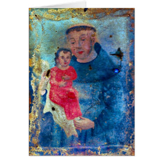 Saint Anthony Greeting Card with Prayer