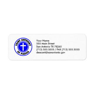 Saint Anthony of Padua Return Address Label