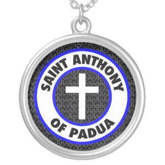 Saint Anthony of Padua Silver Plated Necklace