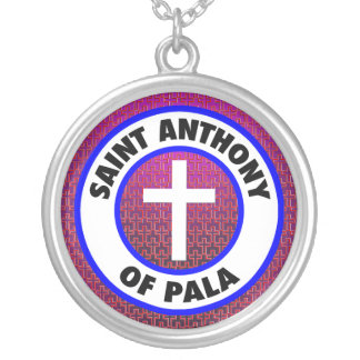 Saint Anthony of Pala Silver Plated Necklace