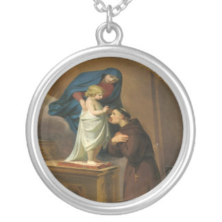 Saint Anthony - sant'Antonio - Hl. Antonius Silver Plated Necklace