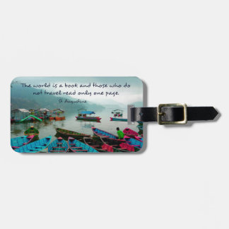 Saint Augustine TRAVEL quote Luggage Tag