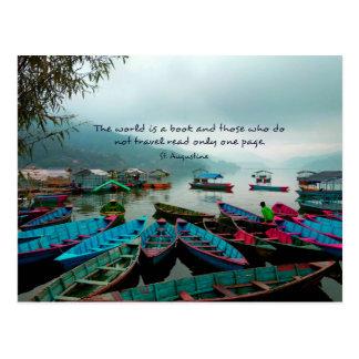 Saint Augustine TRAVEL quote Postcard