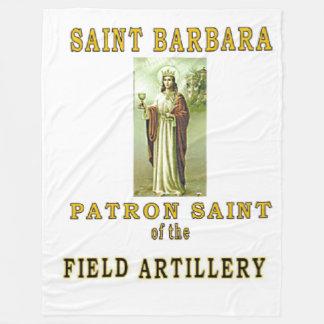 SAINT BARBRA FLEECE BLANKET