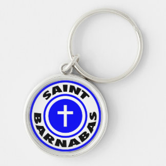 Saint Barnabas Silver-Colored Round Keychain
