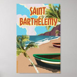 Saint Barthélemy Island Vintage Travel Poster