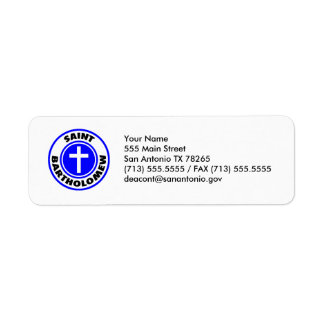 Saint Bartholomew Return Address Label