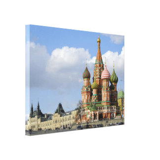 Saint Basil Cathedral. Red Square Moscow Russia Canvas Print