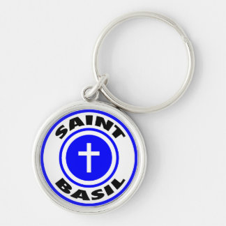 Saint Basil Silver-Colored Round Keychain