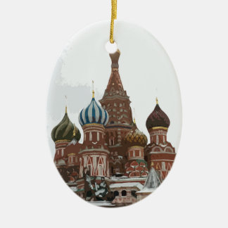 Saint Basil's cathedral_eng Ceramic Ornament