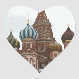 Saint Basil's cathedral_eng Heart Sticker