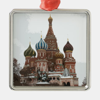 Saint Basil's cathedral_eng Metal Ornament