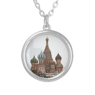 Saint Basil's cathedral_eng Silver Plated Necklace