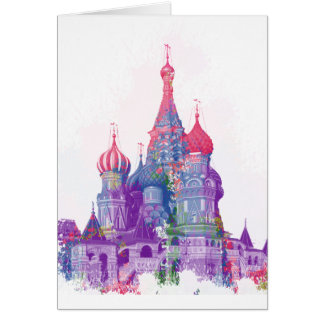 Saint Basil's Cathedral Moscow Card