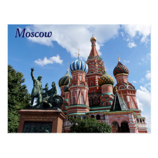 Saint Basil's Cathedral Red Square Moscow Russia Postcard