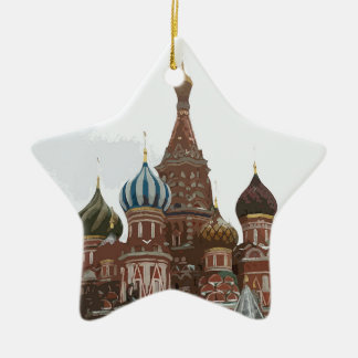Saint Basil's cathedral_russo Ceramic Ornament