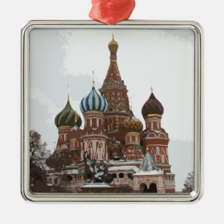 Saint Basil's cathedral_russo Metal Ornament