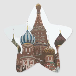 Saint Basil's cathedral_russo Star Sticker