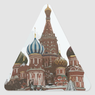 Saint Basil's cathedral_russo Triangle Sticker