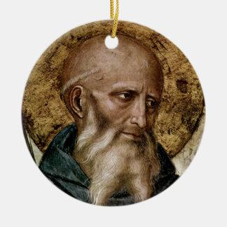 Saint Benedict Ceramic Ornament