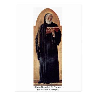 Saint Benedict Of Nursia By Andrea Mantegna Postcard