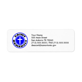 Saint Benedict Return Address Label