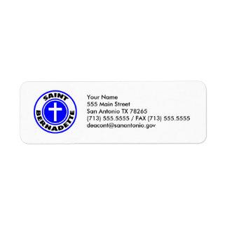 Saint Bernadette Return Address Label